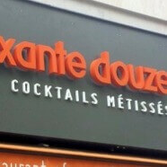 "Enseigne restaurant ""Le soixante douze"" Paris"