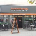 Enseigne du restaurant vue de la rue - Restaurant le soixante douze