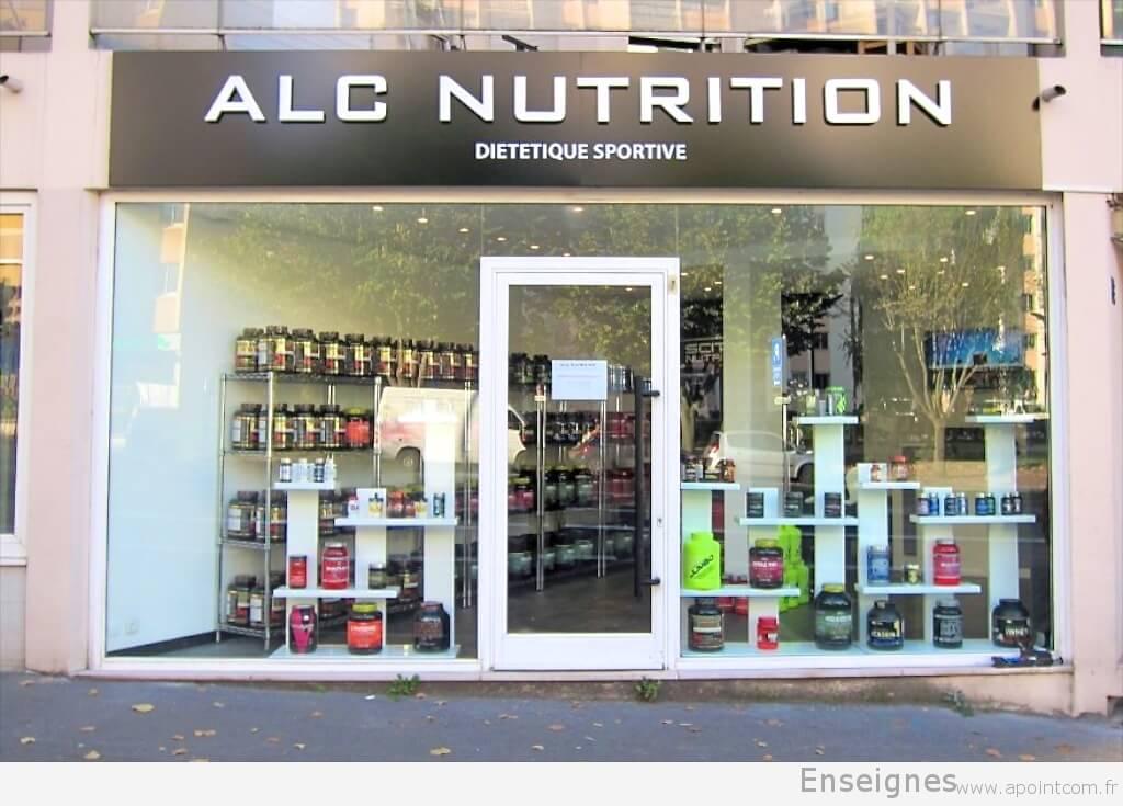 enseigne en relief pour magasin nutrition musculation alc. Black Bedroom Furniture Sets. Home Design Ideas