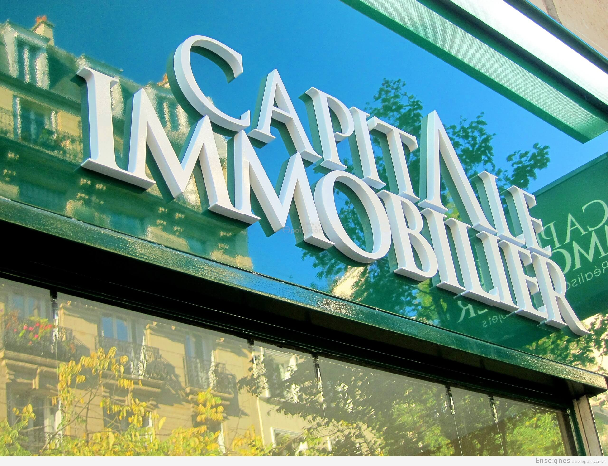 Enseigne agence immobili re paris capital immobilier for Agence immobiliere i