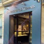 Lettres et vitrine ouverte - Bijouterie joaillerie Paris - La Compagnie des Gemmes