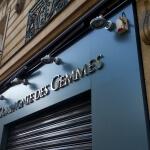 Enseigne avec rideau métallique baissé - Bijouterie joaillerie Paris - La Compagnie des Gemmes