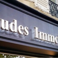 Enseigne lumineuse agence Immobilière Aptitudes Neuilly  (92)