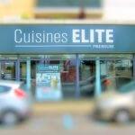 Enseigne lumineuse de cuisiniste - Cuisines Elite (77)
