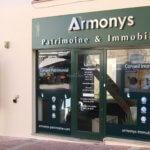 Vitrine et enseigne du conseil en patrimoine et immobilier Armonys - Pontoise (95)