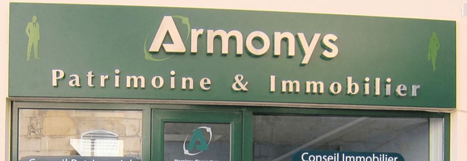 Enseigne pour Armonys Patrimoine à Pontoise