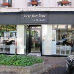 """Vue de la vitrine et de l'enseigne """"Just for You by Elisabeth"""" à Saint Cloud (92)"""