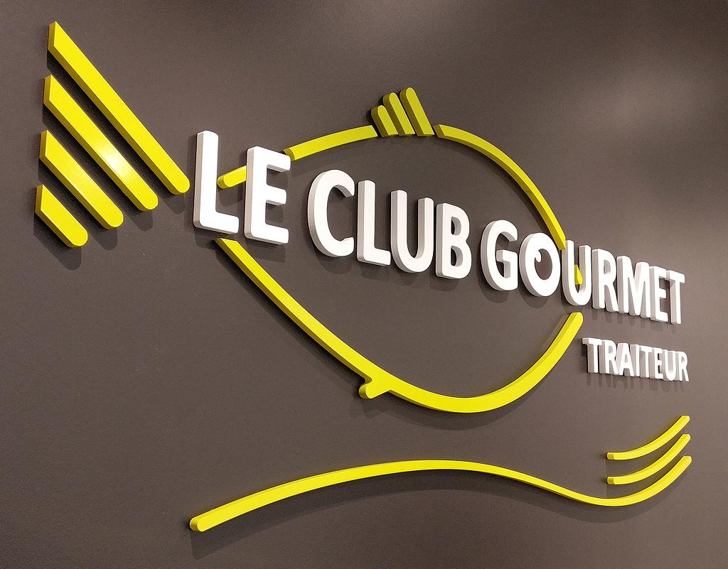 Le Club Gourmet - Traiteur : détail enseigne intérieur