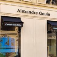 Enseigne inox agence Immobilière Alexandre Gouin conseil immobilier