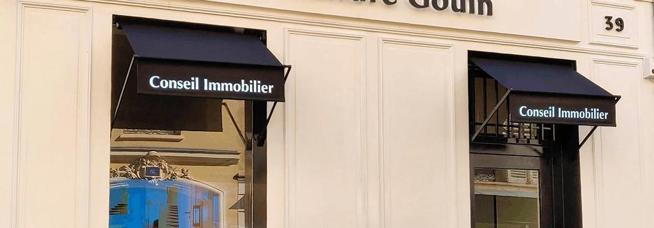 Enseigne pour Conseil Immobilier Paris (Alexandre Gouin)