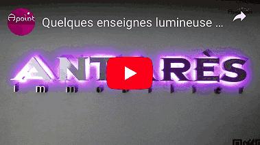 Video enseigne lumineuse